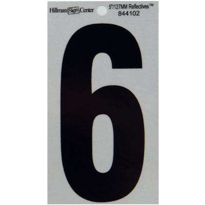 5 in. Mylar Reflective Number 6