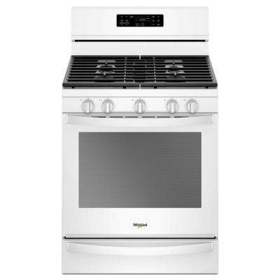 5.8 cu. ft. Gas Freestanding Range in White with Frozen Bake Technology