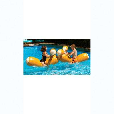 54 in. Log Flume Joust Set Pool Floats with Boppers
