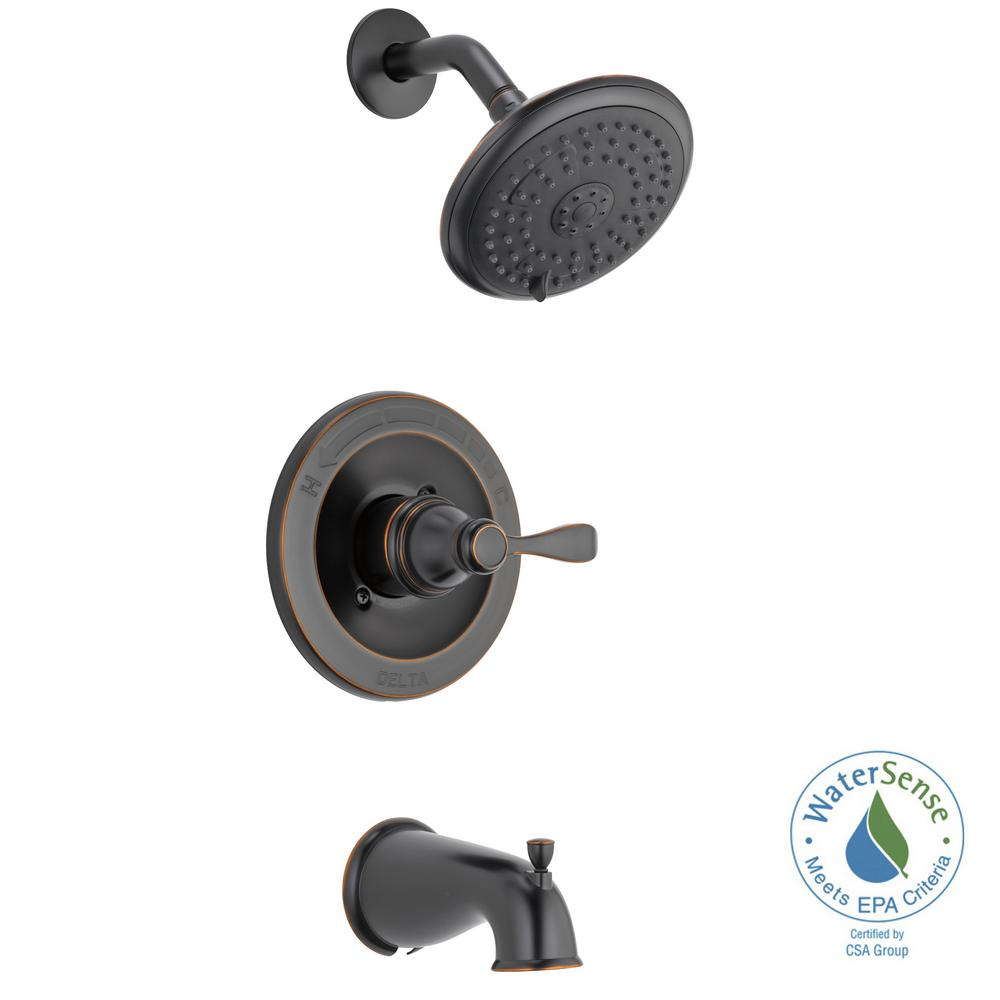 Attractive Porter Single Handle 3 Spray Tub And Shower Faucet In Oil Rubbed Bronze (