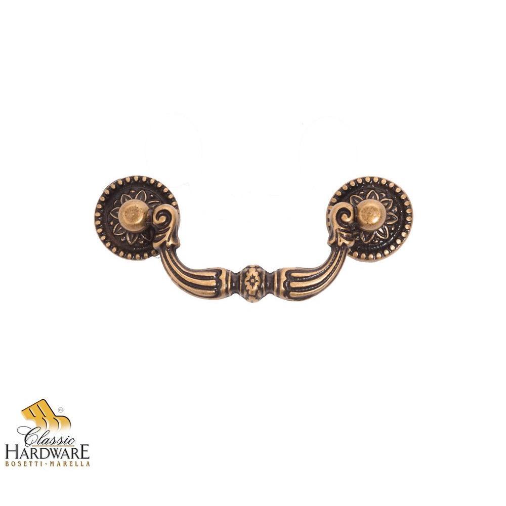 antique brass dark drop pull