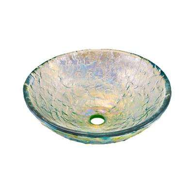 15 in. Vessel Sink in Crystal Reflections