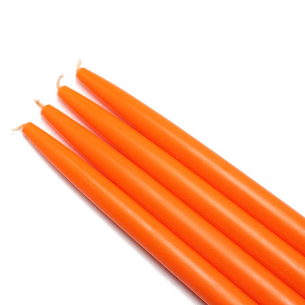 Zest Candle 10 in. Orange Taper Candles (12-Set)