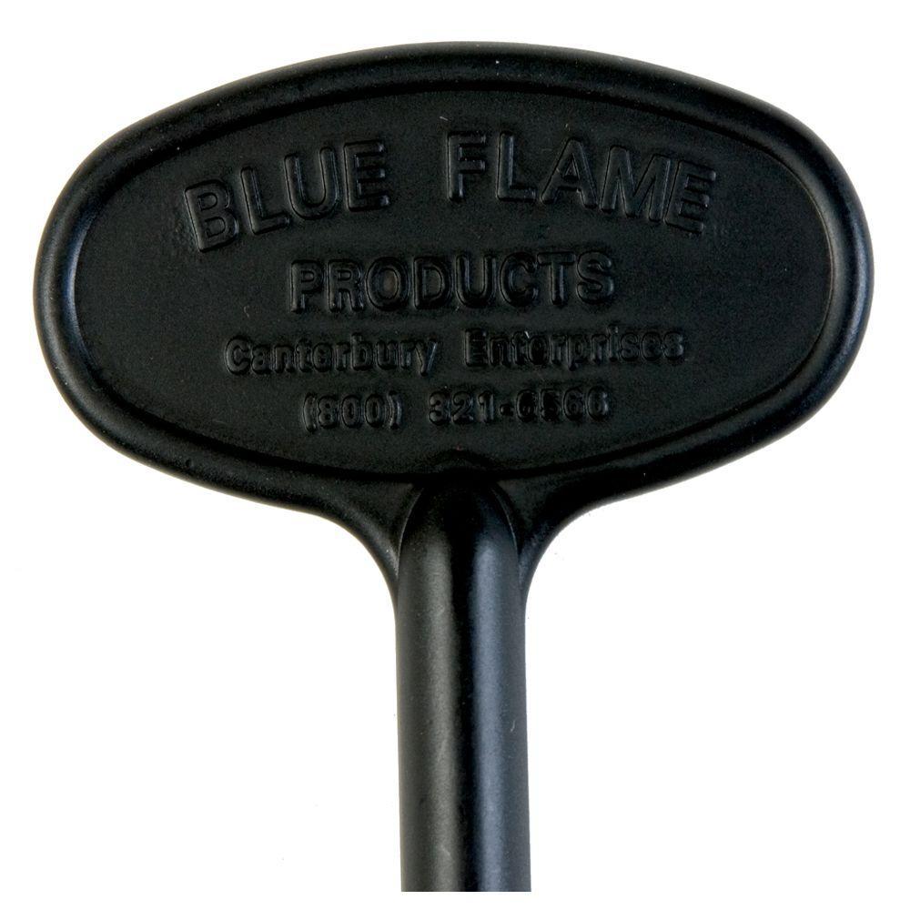 8 in. Universal Gas Valve Key in Flat Black