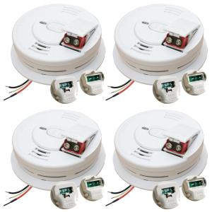 Kidde 120-Volt Hardwired Front Load Smoke Detector with Adapter (Bundle of 4) by Kidde