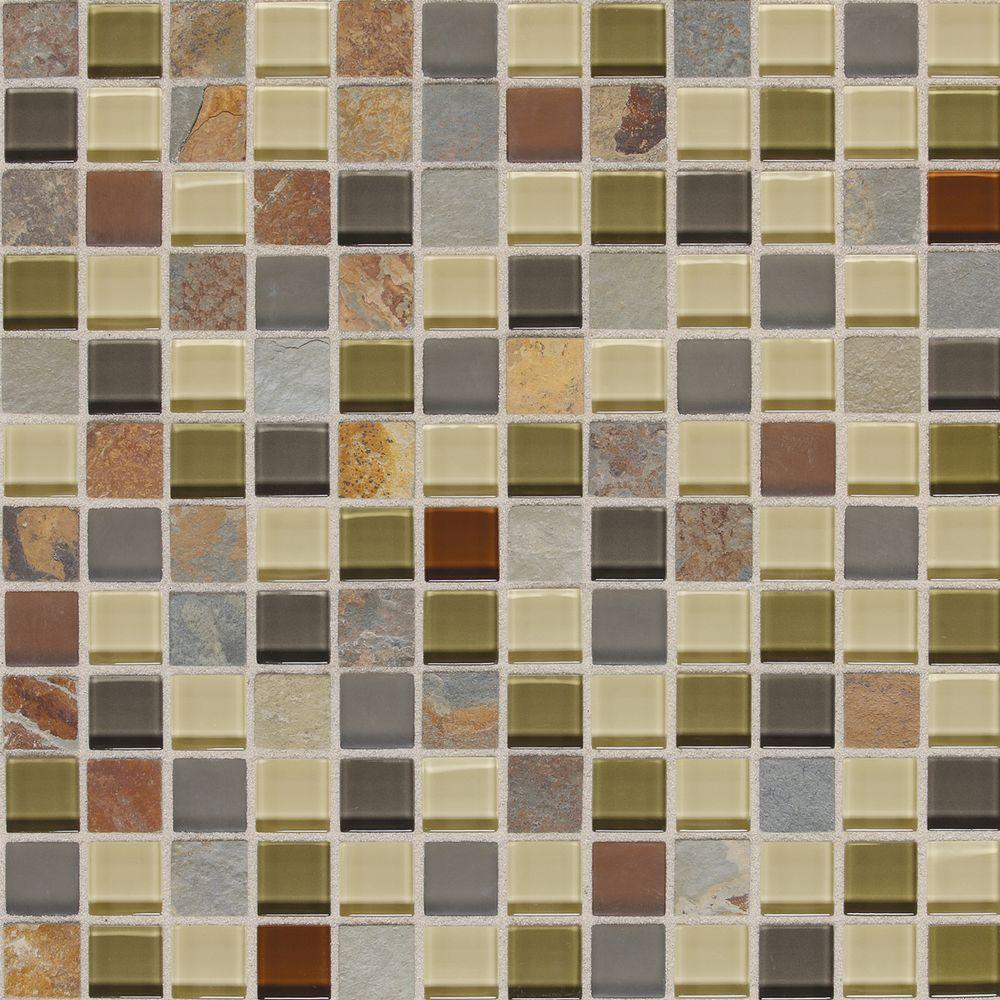 Slate Radiance Cactus 12 in. x 12 in. x 8 mm