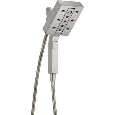 In2ition Two-In-One 4-Spray 2.5 GPM Hand Shower in Stainless Featuring H2Okinetic and MagnaTite Docking