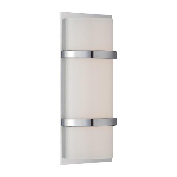Vie 14 in. Chrome LED Vanity Light Bar and Wall Sconce, 2700K