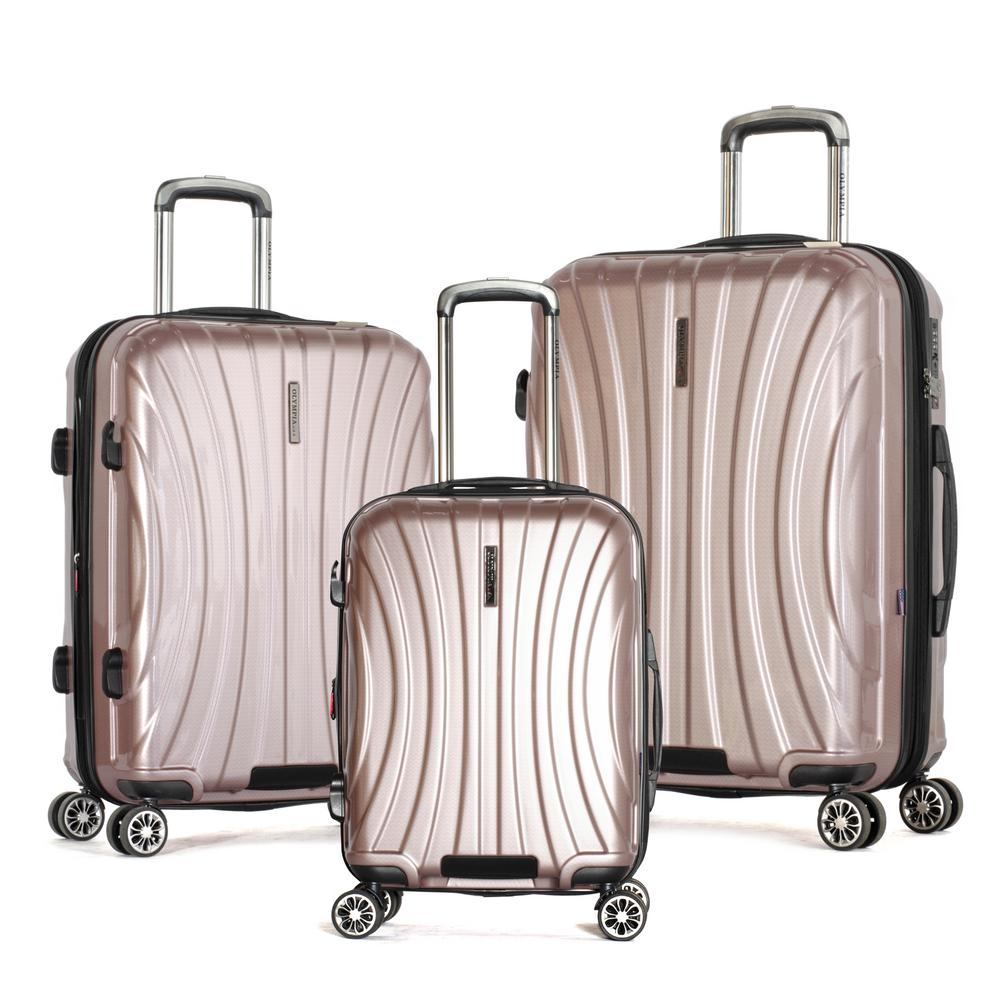 Phoenix 3-Piece Expandable Rose Pink Hardcase Spinner Set