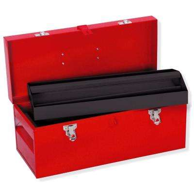 Heavy Duty Metal Tool Box - 17 in. X 7 1/2 in. X 7 in.