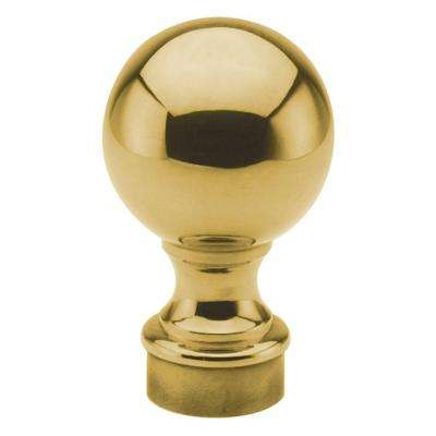 Polished Brass Ball Finial for 2 in. Outside Diameter Tubing