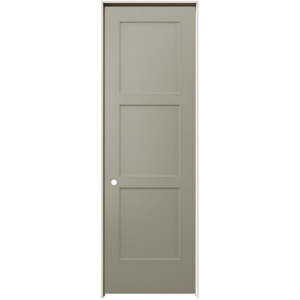 30 in. x 96 in. Birkdale Desert Sand Paint Right-Hand Smooth Solid Core Molded Composite Single Prehung Interior Door