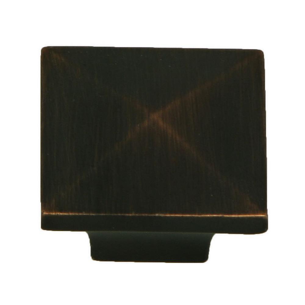 Stone Mill Hardware Cairo 1-1/4 in. Oil Rubbed Bronze Square Cabinet Knob