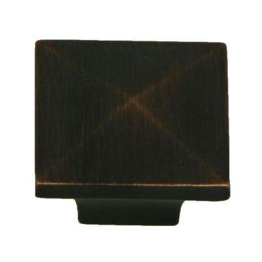 Cairo 1-1/4 in. Oil Rubbed Bronze Square Cabinet Knob (10-Pack)