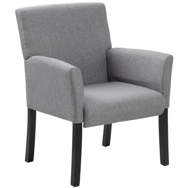 Boss Gray Contemporary Guest Chair