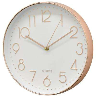 White and Gold Round Wall Clock