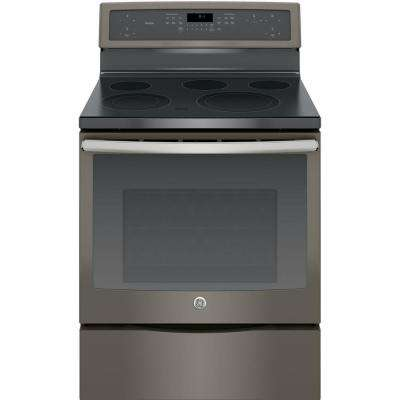30 in. 5.3 cu. ft. Electric Range with Self-Cleaning Convection Oven in Slate