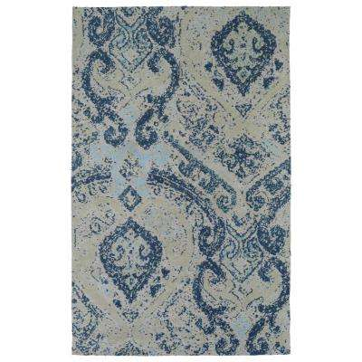 Cozy Toes Blue 8 ft. x 10 ft. Area Rug