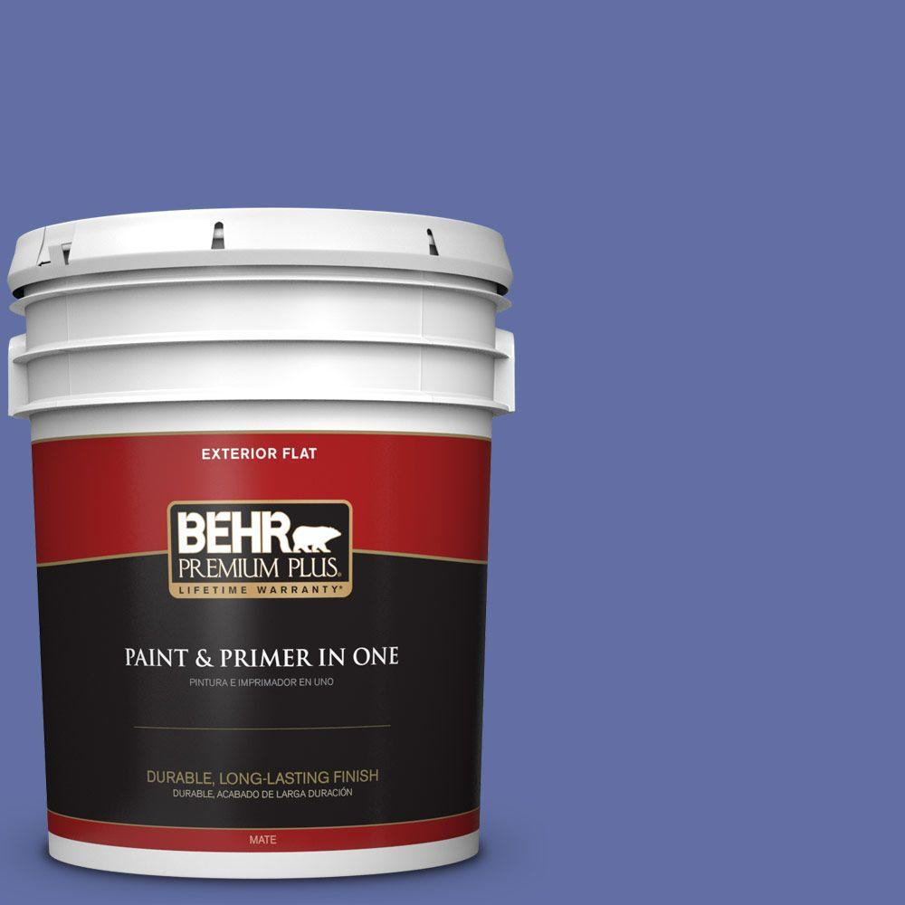 5-gal. #610B-6 Stained Glass Flat Exterior Paint