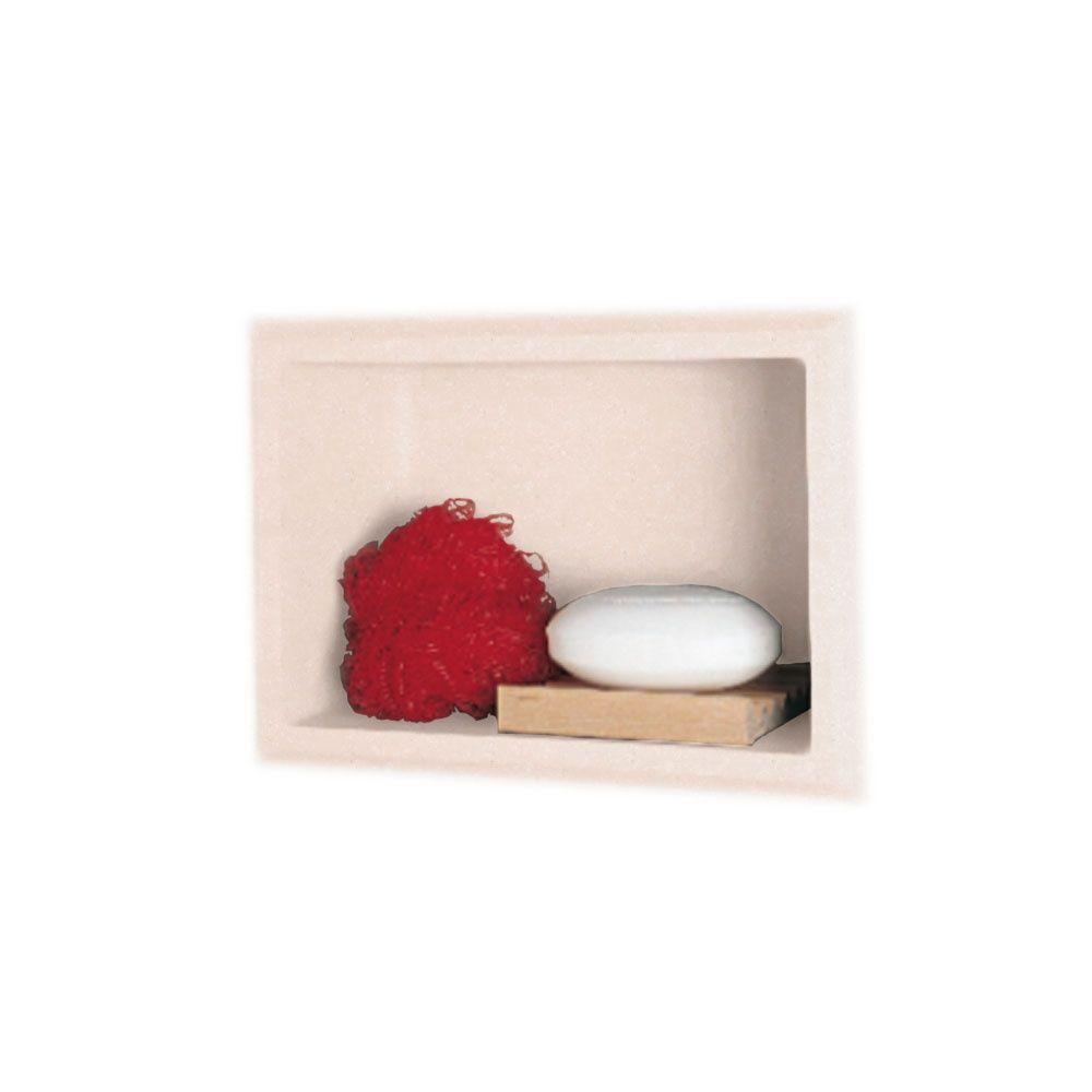 Swanstone 4-1/8 in. x 7-1/2 in. x 10-3/4 in. Recessed Accessory Shelf in Tahiti Rose-DISCONTINUED