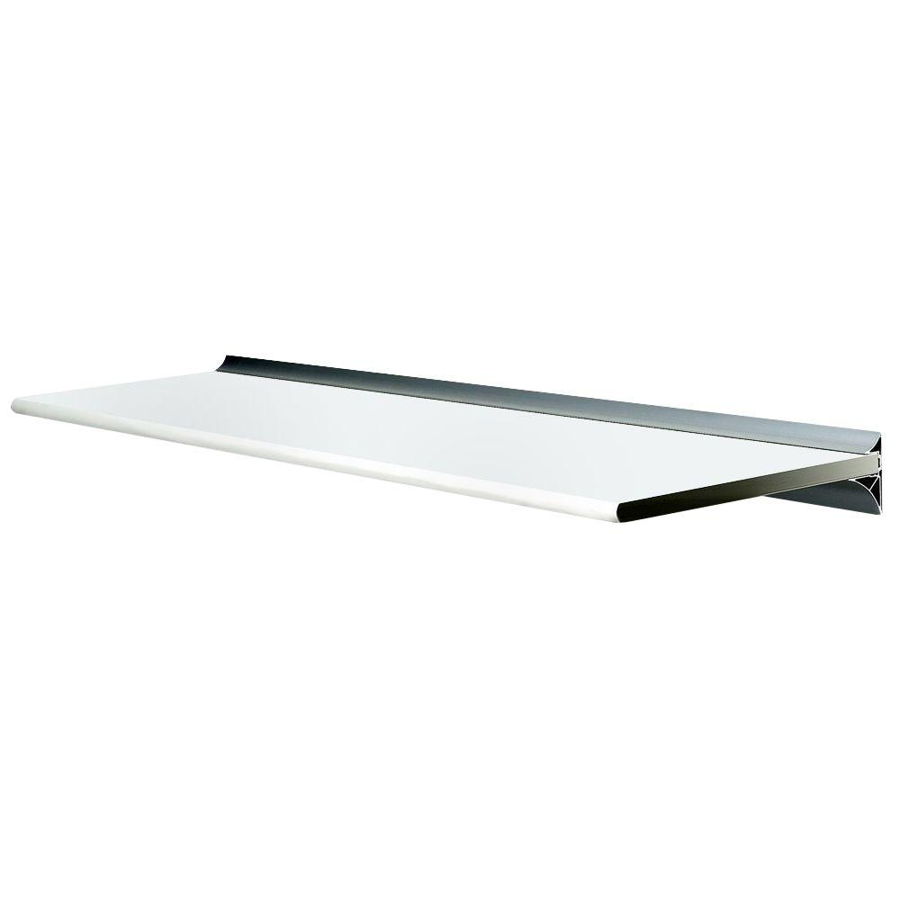 Wallscapes Gallery White Shelf With Silver Bracket Shelf