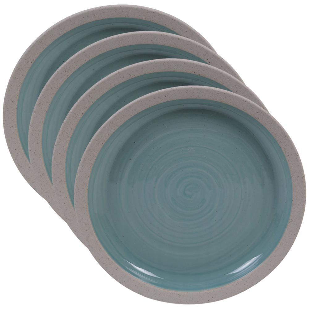 Artisan Teal Salad Plate (Set of 4)