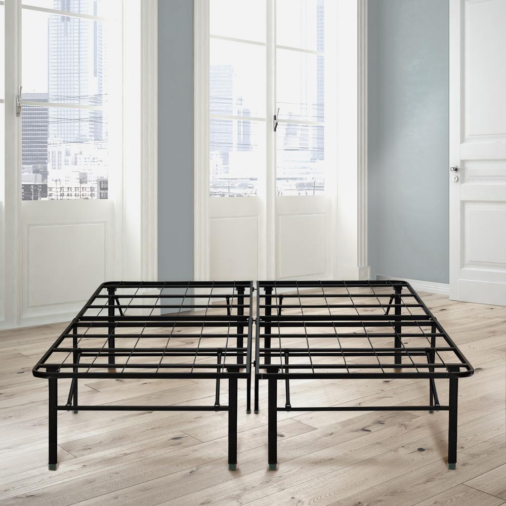 18 in full metal platform bed frame black