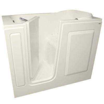 Gelcoat 48 in. x 28 in. Left Hand Quick Drain Walk-In Air Bath Tub in Linen