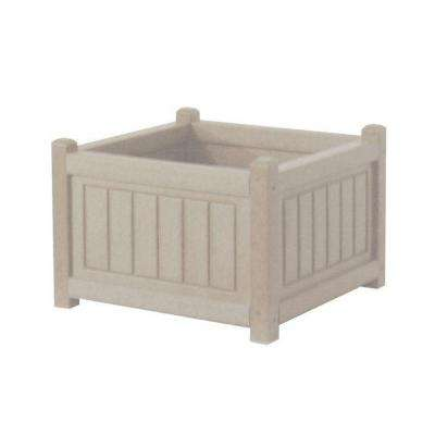 Nantucket 17 in. x 17 in. Driftwood Recycled Plastic Commercial Grade Planter Box