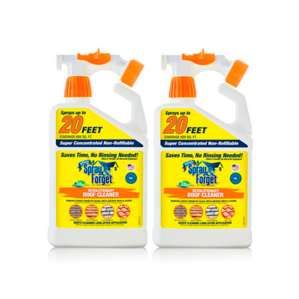 Spray and Forget 32 oz. Super Concentrated Non-Refillable Roof and ...