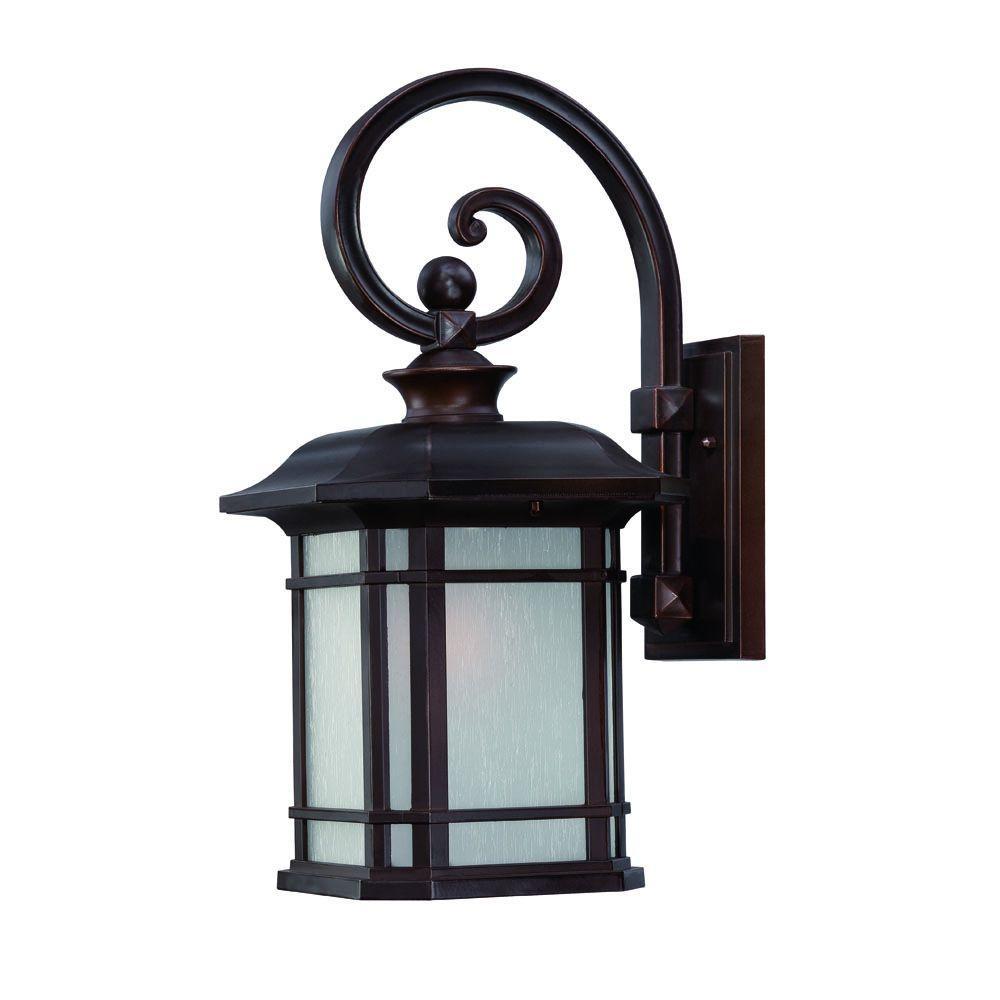 Somerset Collection 1-Light Architectural Bronze Outdoor Wall-Mount Light Fixture