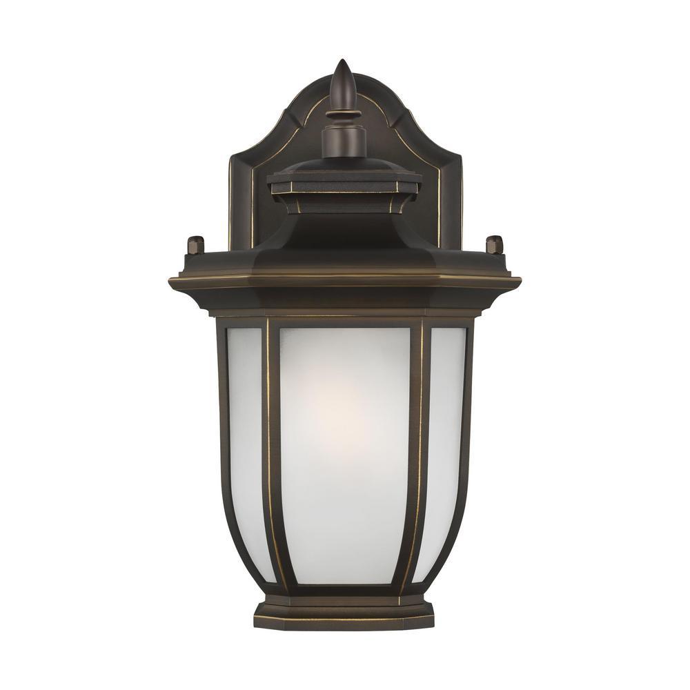 Childress 1-Light Antique Bronze Outdoor Wall Lantern