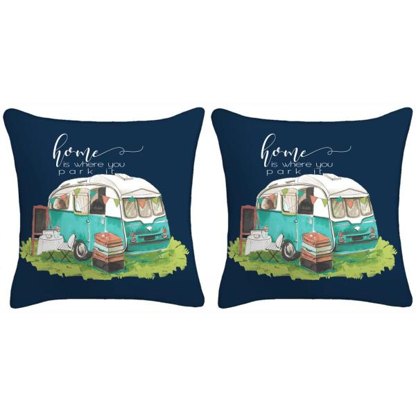 16 in. Life is Where You Park it Toss Pillows (Set of 2)