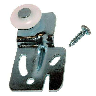 1/4 in. Milled Steel and Nylon Offset Closet Door Hanger (2-Pack)