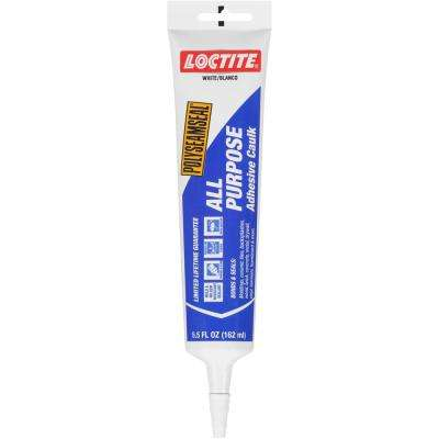 Polyseamseal 5.5 fl. oz. White All-Purpose Adhesive Caulk (12-Pack)