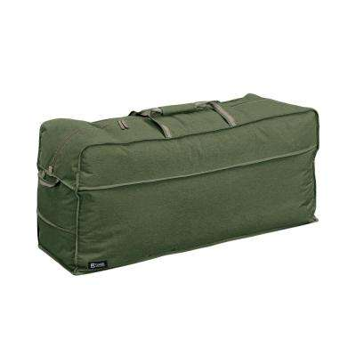 Montlake FadeSafe 45.5 in. L x 13.75 in. W x 20 in. H Heather Fern Heavy-Duty Patio Cushion and Cover Storage Bag