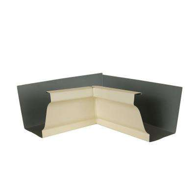 6 in. Heritage Cream Aluminum Inside Box Gutter Miter