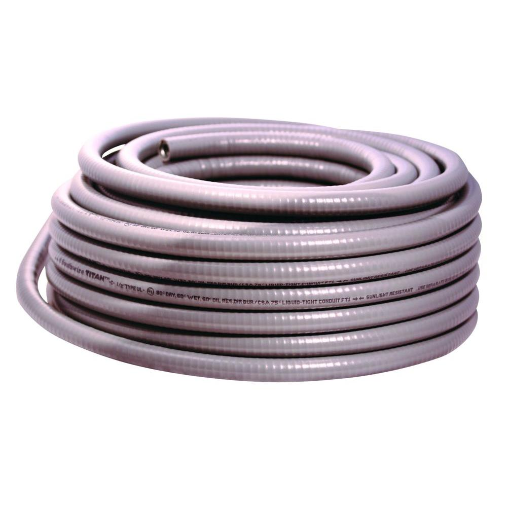 Southwire 2-1/2 in. x 25 ft. Liquidtight Flexible Metallic Titan Steel Conduit