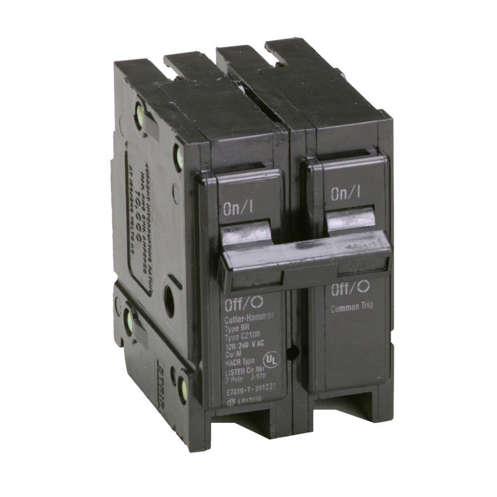 Eaton BR 100 Amp 2 Pole Circuit Breaker-BR2100CS - The Home Depot