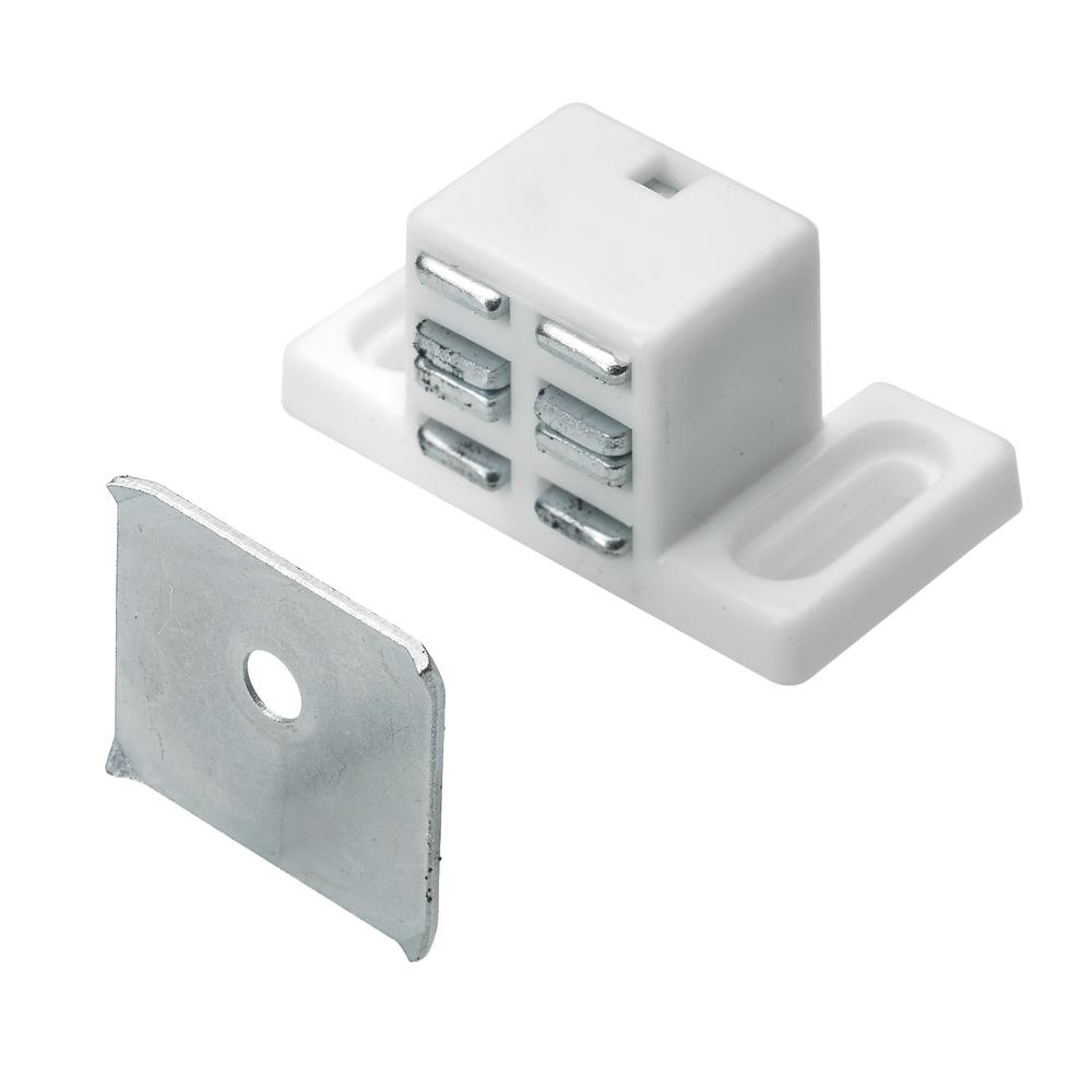 Everbilt High Rise Magnetic Door Catch in White (1-Pack)  sc 1 st  The Home Depot : door catch - pezcame.com