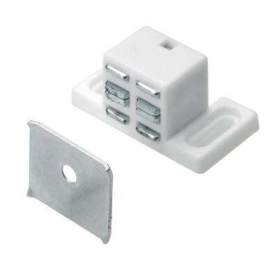 High Rise Magnetic Door Catch in White (1-Pack)