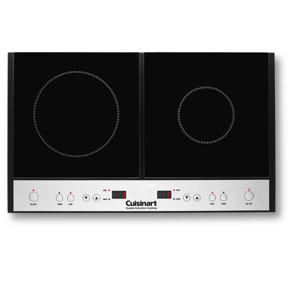 Cuisinart 2-Burner 12 in. Black Induction Hot Plate