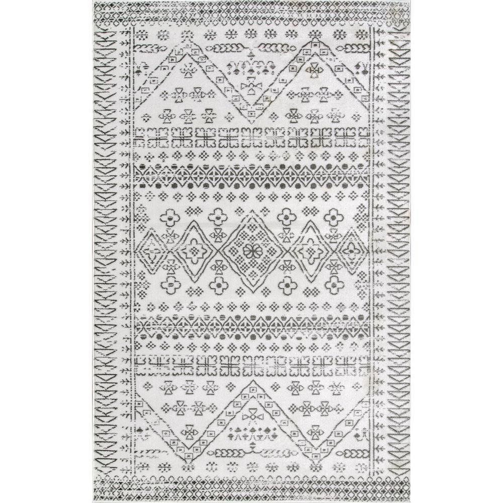 Frances Moroccan Vintage Light Gray 10 ft. x 13 ft. Area Rug