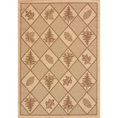 Woven Pine Brown 8 ft. x 11 ft. Indoor/Outdoor Area Rug