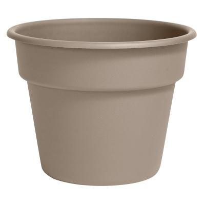 Dura Cotta 10 in. x 8.75 in. Pebble Stone Plastic Planter
