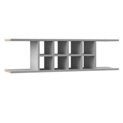 Shaker Ready to Assemble 48 x 13.375 x 11.25 in. Wall Flex Shelf in Dove Gray