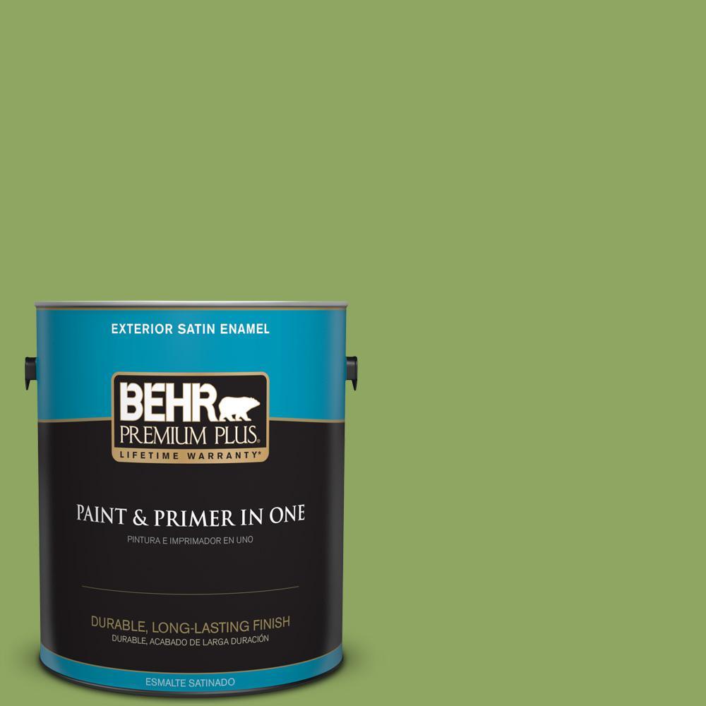 1 gal. #PPU10-04 New Bamboo Satin Enamel Exterior Paint