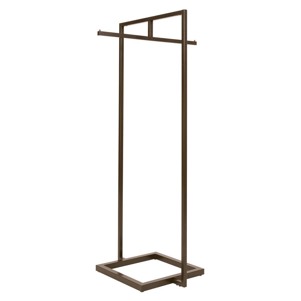 Linea 30 in. W x 66 in. H Statuary Bronze Garment Rack with 1 Crossbar