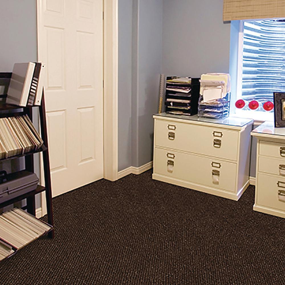 Peel and Stick Inspirations Mocha Hobnail 18 in. x 18 in. Residential Carpet Tile (16 Tiles/Case)
