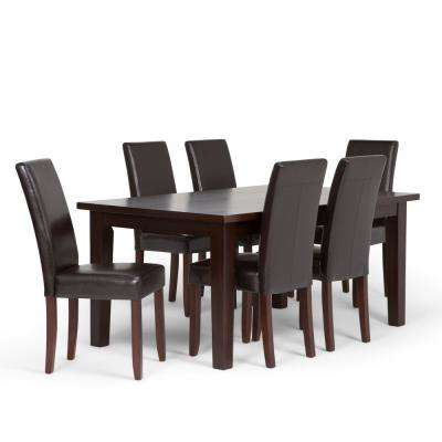 Acadian 7 Piece Tanners Brown Dining Set